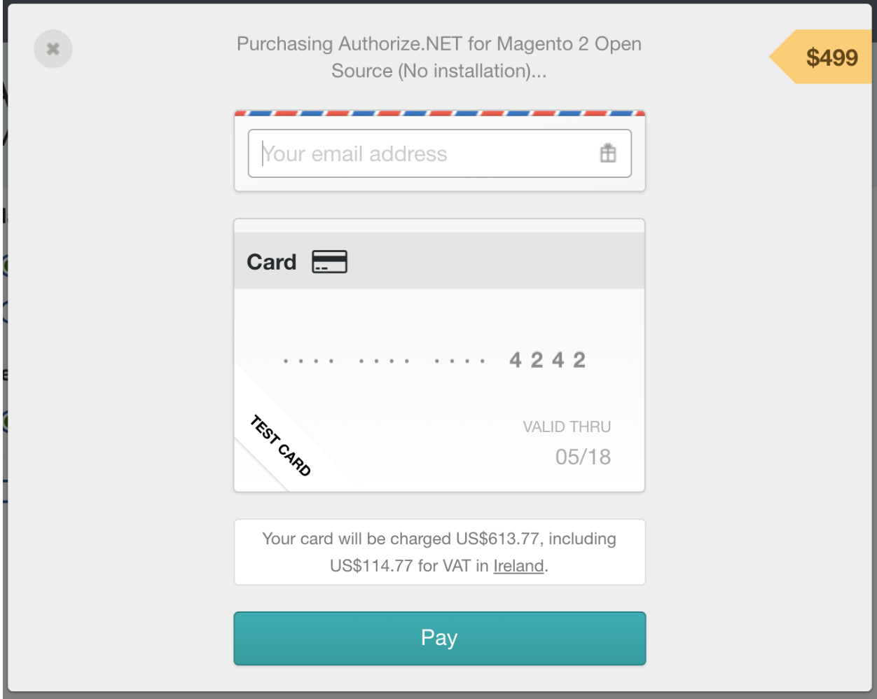 Purchasing Authorize.net extension for Magento 2